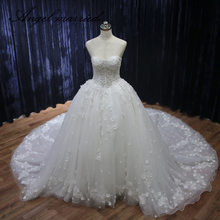 Angel married ball gown wedding Dresses sweetheart