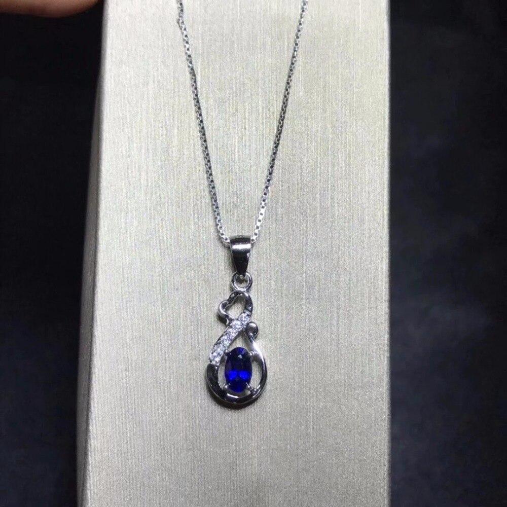 Ожерелье колье Qi xuan_темно-синий камень простой кулон ожерелье_ Настоящее ожерелье_ гарантия качества_ производитель прямые продажи