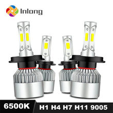 Inlong S2 Mini H1 LED COB H7 8000LM 72W Super Bright H3 H4 H9 H11 9005 HB3 9006 HB4 H8 Car Headlight Bulbs 6500K Fog Lights 12V(China)
