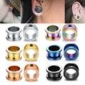 2pcs/lot Steel Ear Plugs and Tunnels Flesh Earring Piercings Lobe Piercing Ear Gauge Ear Tunnels Expanders Body Jewelry Piercing