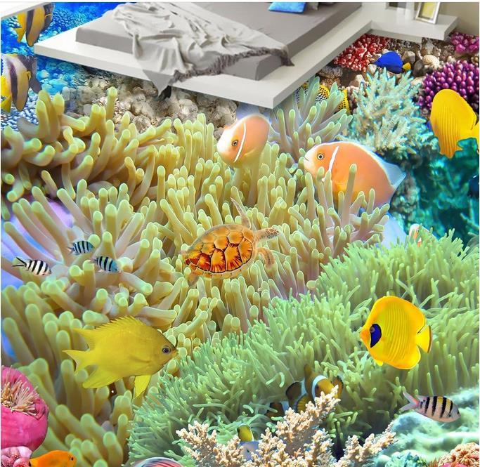 d murales de suelo bajo el agua hd coral piso d papel tapiz para paredes de la habitacin de vinilo piso wallpaper d para hab