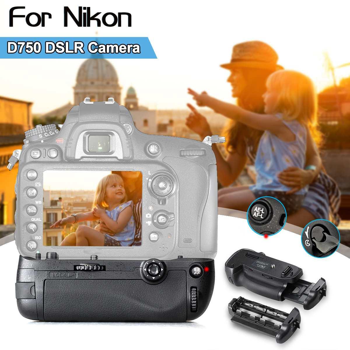 Vertical Battery Grip Holder For Nikon D750 DSLR Camera work with EN EL15 battery as MB