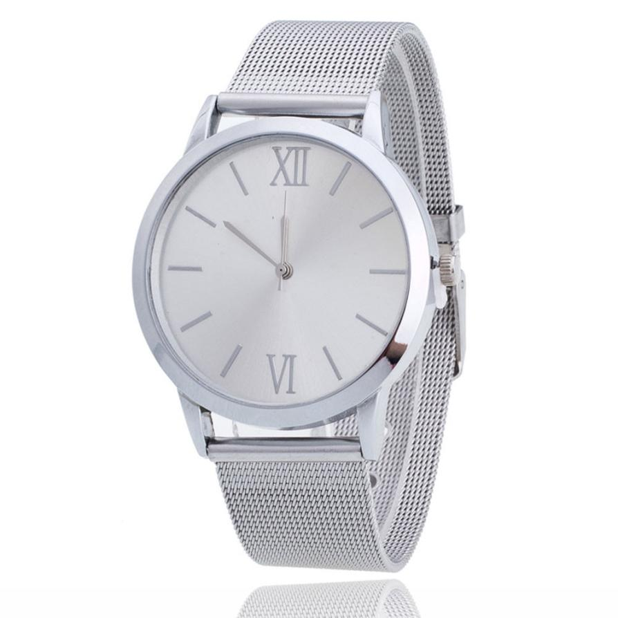Fashion Roman Numerals Watches Women Luxury Stainless Steel Analog Quartz Watch Women's Dress Watch Relogio Feminino Reloj #Ju clock watch women roman numerals quartz gold stainless steel wrist band luxury casual watches relogio feminino high quality