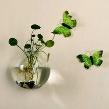 Настенный стеклянный цветочный горшок ваза Террариум контейнер домашний сад Декор шар
