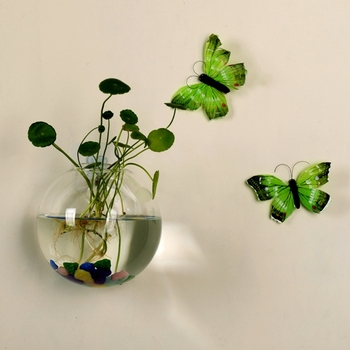 Wall Hang Glass Flower Planter Vase Terrarium Container Home Garden Decor Ball 1