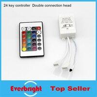 10 יח'\חבילה 24 מפתחות אינפרא אדום בקר IR RGB מרחוק controller עבור 5050 RGB רצועת SMD 12V- 24V