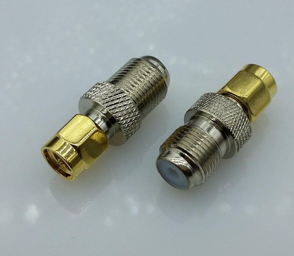 F Type Female Jack to SMA Male Plug Straight RF Coax Adapter F ...
