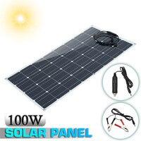 100 Вт 12 В Панели солнечные солнечных батарей Sunpower Батарея с зажигалкой MC4 разъем зарядки для RV/лодка