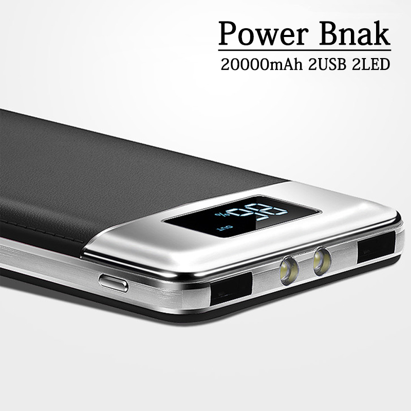 Automobiles Advertising 30000mah Power Bank Fast Charge Slim Ultrathin Powerbank Dual Usb Led Digital Display Portable Charger For Xiaomi Iphone Huawei