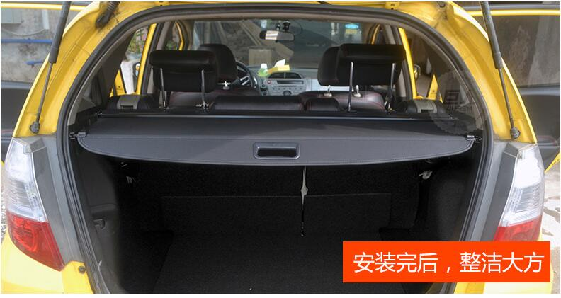 For Honda Fit Jazz 2017 Rear Cargo Cover Privacy Trunk Screen Security Shield Shade Black Beige Auto Accessories In Racks From