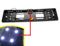 EU Car License Plate Frame Rear Front View Camera For European Cars With CCD HD 4