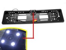 ЕС Автомобильный Номерные знаки для мотоциклов Рамки сзади/вид спереди Камера для европейских автомобилей с CCD HD 4 светодиодный ИК свет Водонепроницаемый IP68 широкоугольный