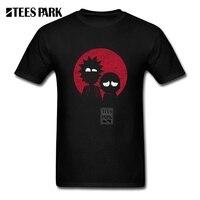 Rick e Morty Tshirt Estilo Retro Dos Desenhos Animados Anime Impressão Masculino T camisa O Pescoço T-Shirt de Algodão de Manga Curta Homens Camisetas Geek Tops