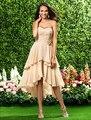 Fashion Sweetheart  Asymmetrical Chiffon  A-line   Bridesmaid Dress with Ruffles
