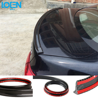 Car Styling 3D Carbon Rubber Fiber Auto Car Vehicle Tail Lip Bumper Strip Protector Universal Car Spoiler Bumper Strip For BMW