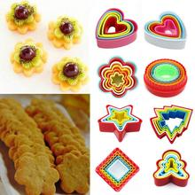 1 set 7 styles Christmas Tree Heart Star Frill Flower Shape Cookie Cutter Cake Baking Mold