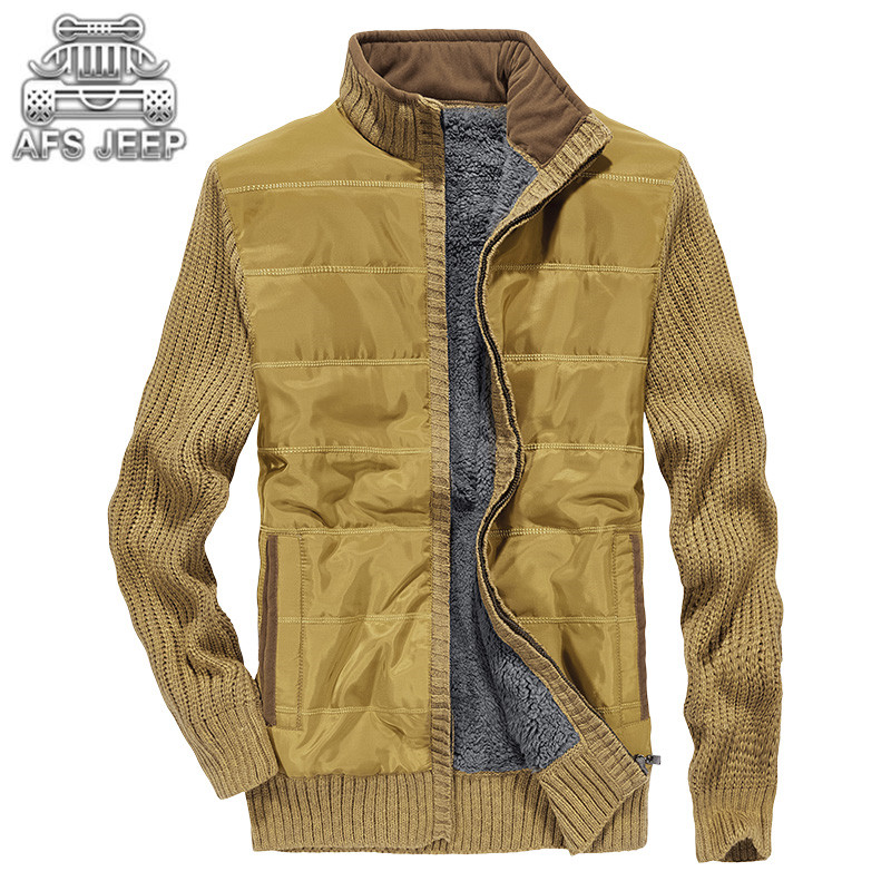 Ambitious Cardigan Men Sweater Autumn Winter Warm Sweatercoat Loose Warm Plus Velvet Long Sleeve Christmas Mens Sweaters Afs Zdjp Jeep Cardigans