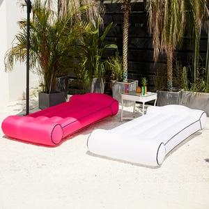 Image 2 - Air sitzsack sofa Bett outdoor Aufblasbare sitzsack wasserdichte bett