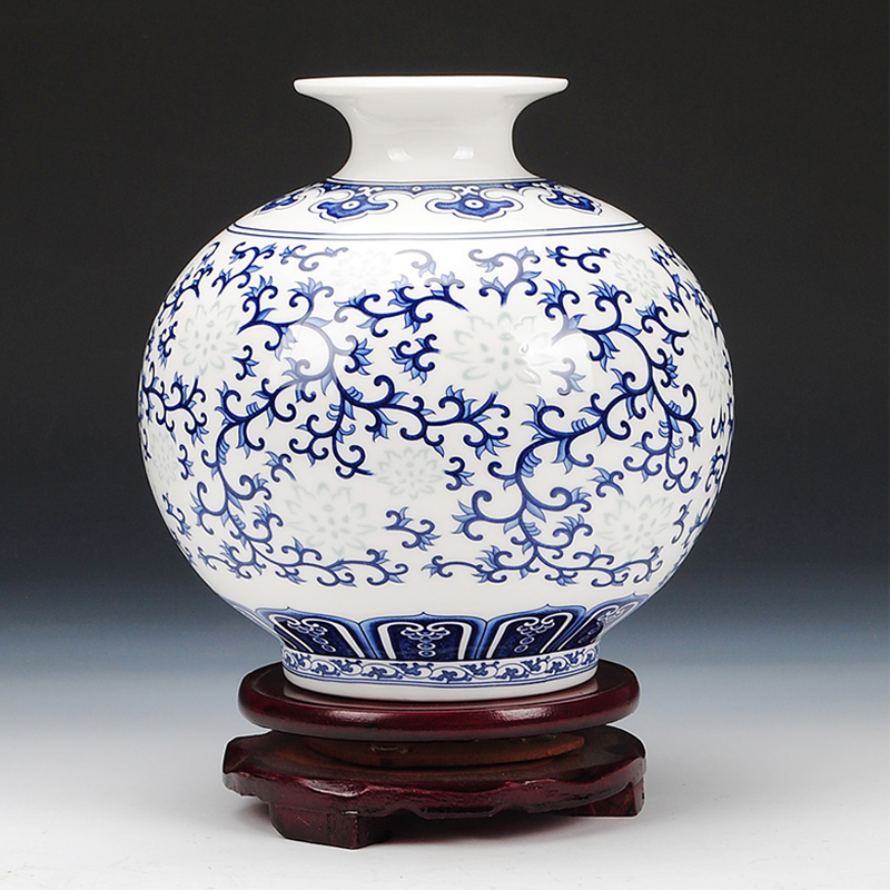 jingdezhen rice pattern porcelain pomegranate vase antique. Black Bedroom Furniture Sets. Home Design Ideas