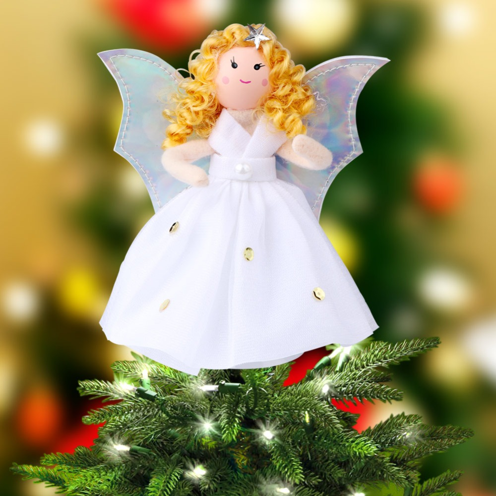 Aliexpress.com : Buy OurWar 5pc Angel Tree Topper Christmas Tree Top Star New Year Gifts for ...