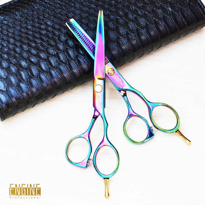 חמה למכירה 6.0 אינץ חיתוך שיער מספריים שיער מספרה מקצועי שיער דליל 5.5 inch מספריים שיער cares מתנה חינם