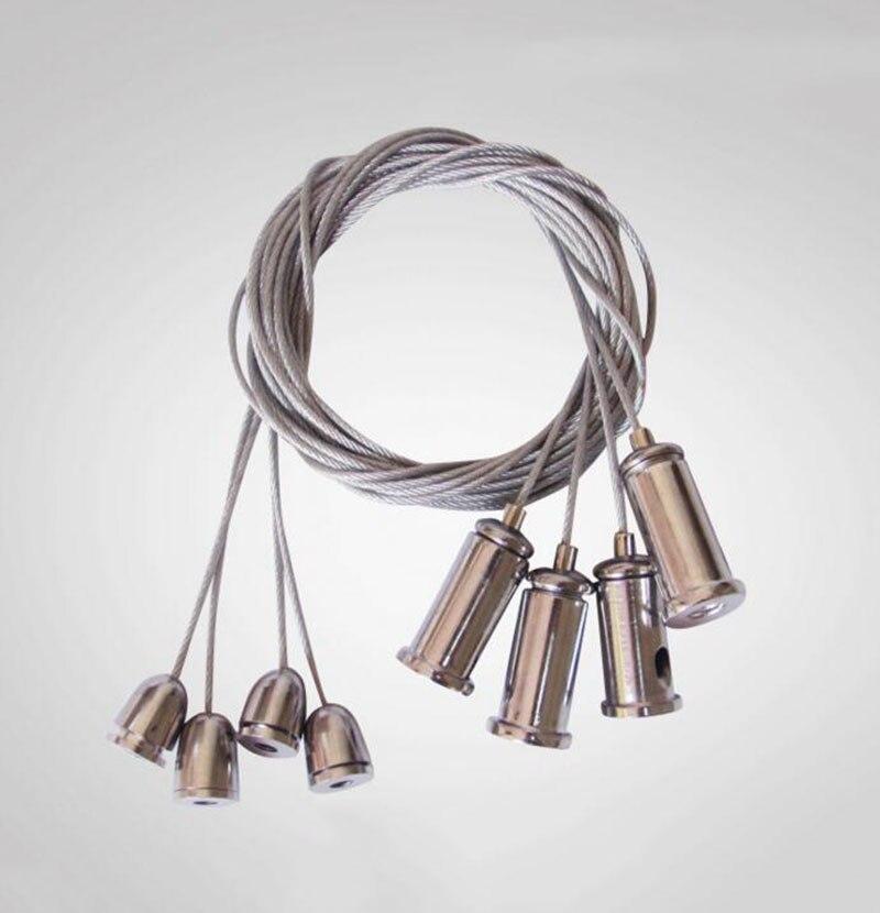 Hardware Kronleuchter Drahtseil/instrumententafel-leuchten Zubehör/hängen Stahldraht/diy Beleuchtung Zubehör 0,8 Meter 50 StÜcke Hochwertige Materialien
