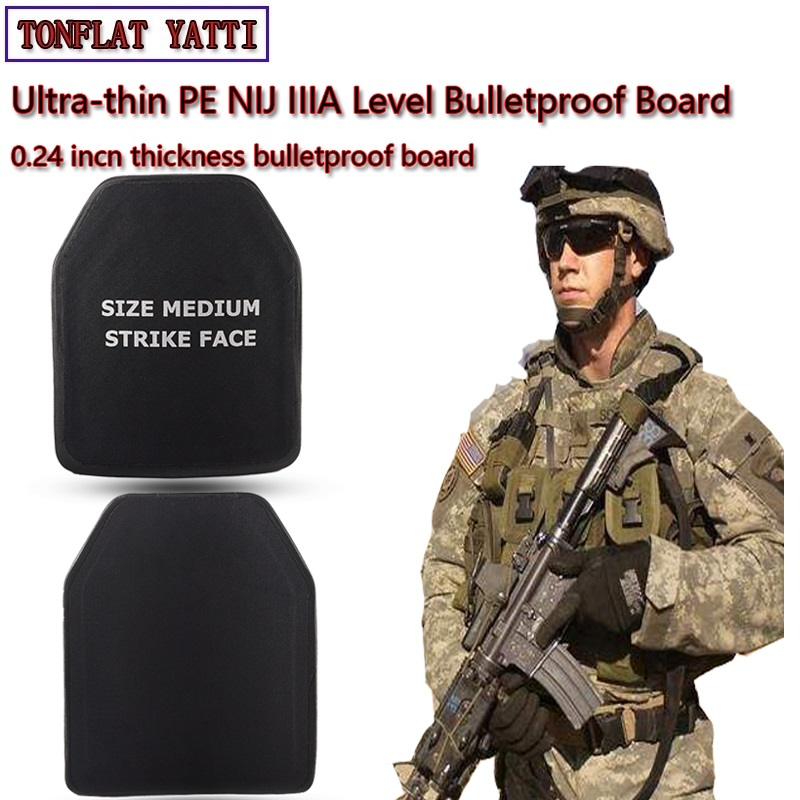 New NIJIII&IIIA UHMW PE Bulletproof Board Low Weight Thin 0.24inch Thick Policemen,Army, Security,Tactical Military Operations