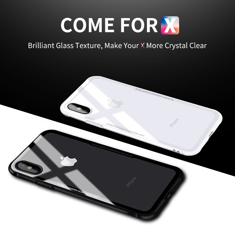 size 40 678d7 7afba US $7.99 |E SKY for iPhone X 6 6s 7 8 plus Glass Case for iPhone X Proof  Luxury Slim Tempered Glass Cover for iphonex back-in Phone Bumper from ...