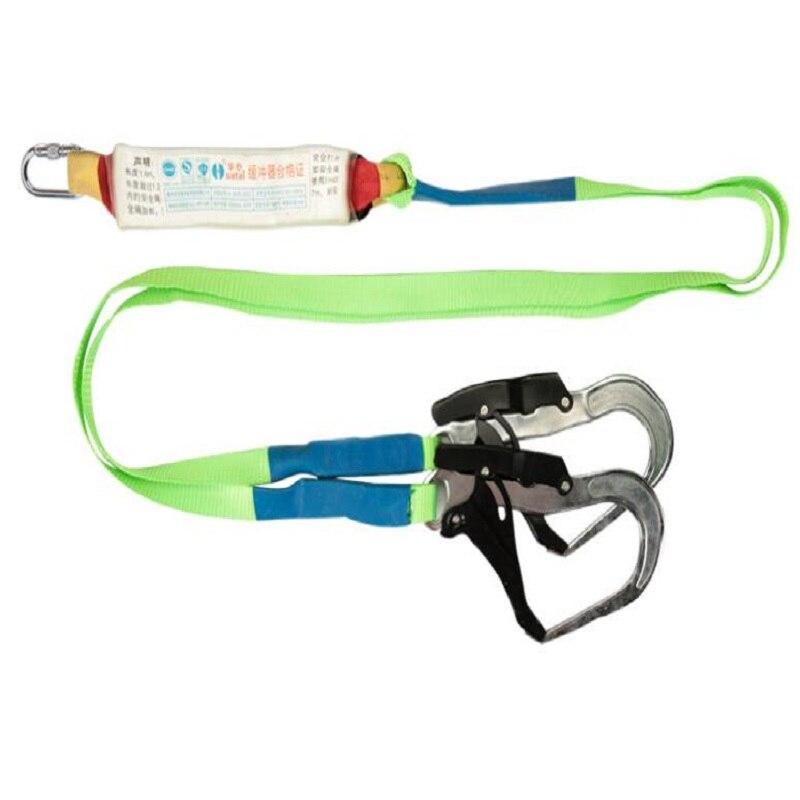 Type de tampon de construction extérieure corde de sécurité anti-chute installation de climatisation ceintures de sécurité harnais à double crochet en Polyester