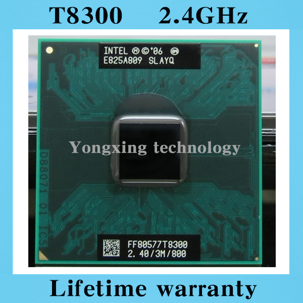 Lifetime warranty Core 2 Duo T8300 2.4GHz 3M 800 Dual Notebook processors Laptop CPU Socket PGA 478 pin Computer Original