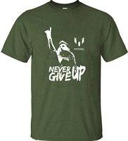 Leo Messi JAMAIS DONNER UP T-shirt FC BARCELONE T-shirt MESSI Coton Jersey Fans pour la Chemise