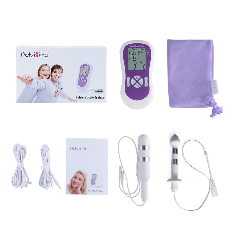 Entrenador eléctrico de músculo pélvico Kegel ejercitador con sondas de electrodo Vaginal y Anal para hombres y mujeres incontinencia
