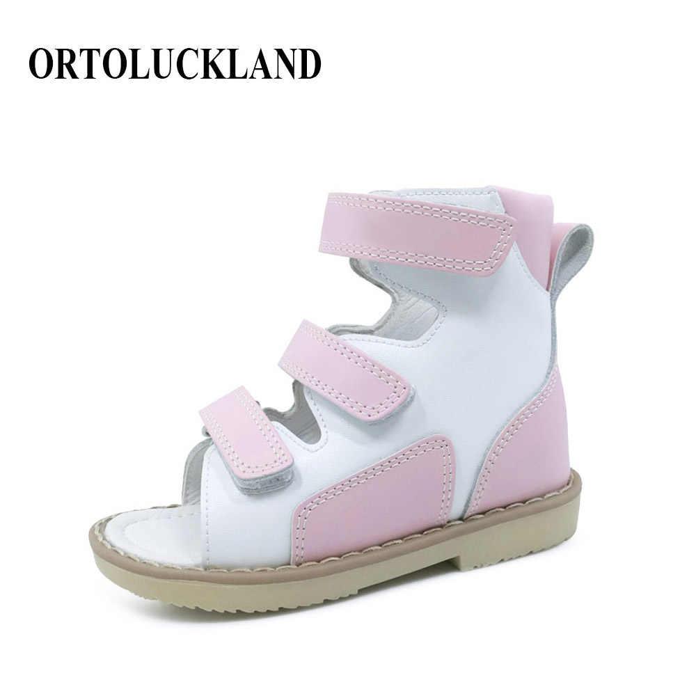 f28f0a720 Простые детские девочки принцесса розовые сандалии ортопедическая обувь Дети  лодыжки медицинская ортопедическая Летняя обувь с обручем