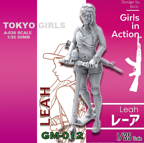 1/35 Resin Kits Tokyo Girl Resin Soldier  Self-assembled (50mm) A-036
