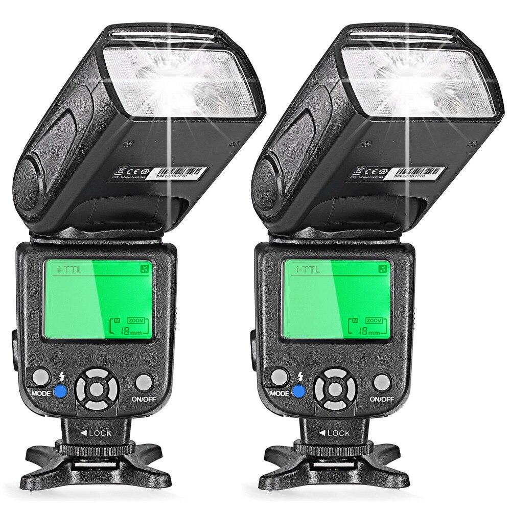 Neewer два i-ttl Вспышка Speedlite для цифровых зеркальных фотокамер Nikon Камера D7200/D7100/D7000/D5200/D5100/D5000/D3000/D3100/D30 D3100 D300 D700 D600