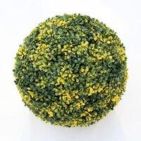 ULAND Sztuczny Bukszpan Trawy Całowanie Roślin Topiary Wiszące Kulki 48 cm Średnica UV Dowód Ogród Ślub Dekoracji Na Zewnątrz