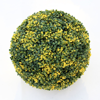 ULAND Artificial Boxwood Grass Balls Topiary Kissing Plant Hanging 48cm Diameter UV Proof Garden Wedding Outdoor Decoration