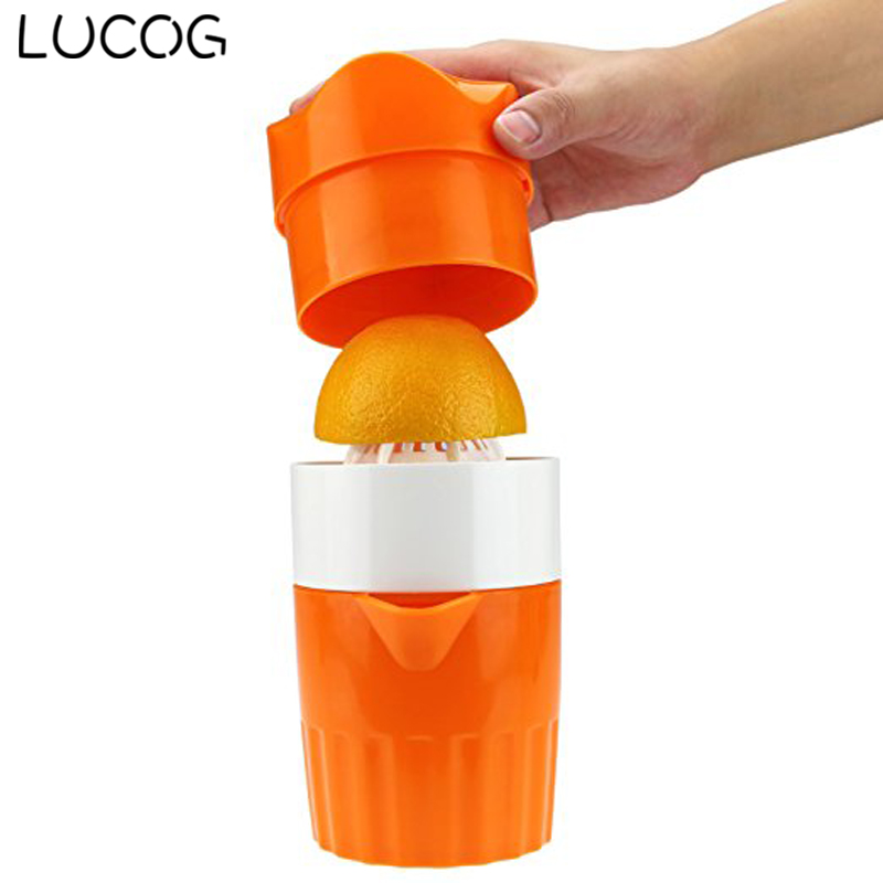 LUCOG Portable Manual Lemon Juicer Mini Fruit Hand Juice Bottle Fruits Squeezer Citrus Juicer 800ml fruit juice infusing infuser water bottle sport health lemon juice bottle flip lid