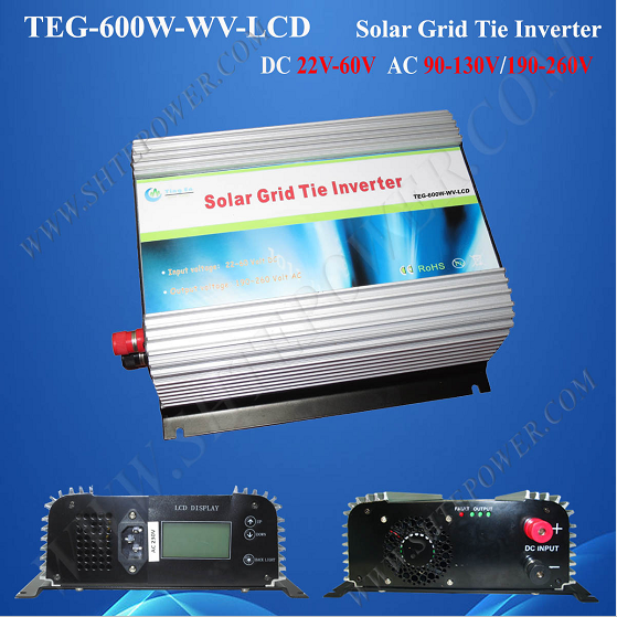 DC to AC 600W Solar Inverter On Grid Tie Inverter With MPPT solar power on grid tie mini 300w inverter with mppt funciton dc 10 8 30v input to ac output no extra shipping fee