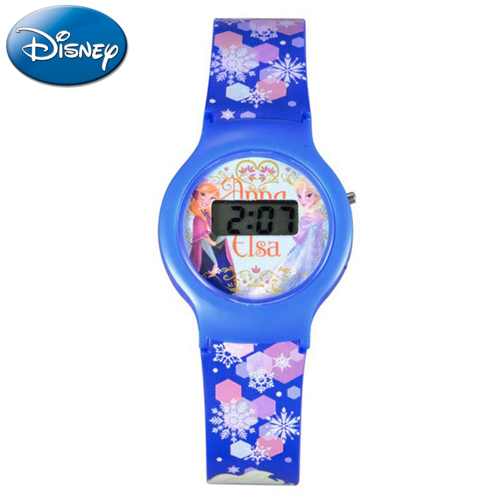 Watches Original Disney Frozen Elsa Anna Sofia Princess Girl Leather Cartoon Children Watch Kids Lovely Gift For Student Clock Fz-54171