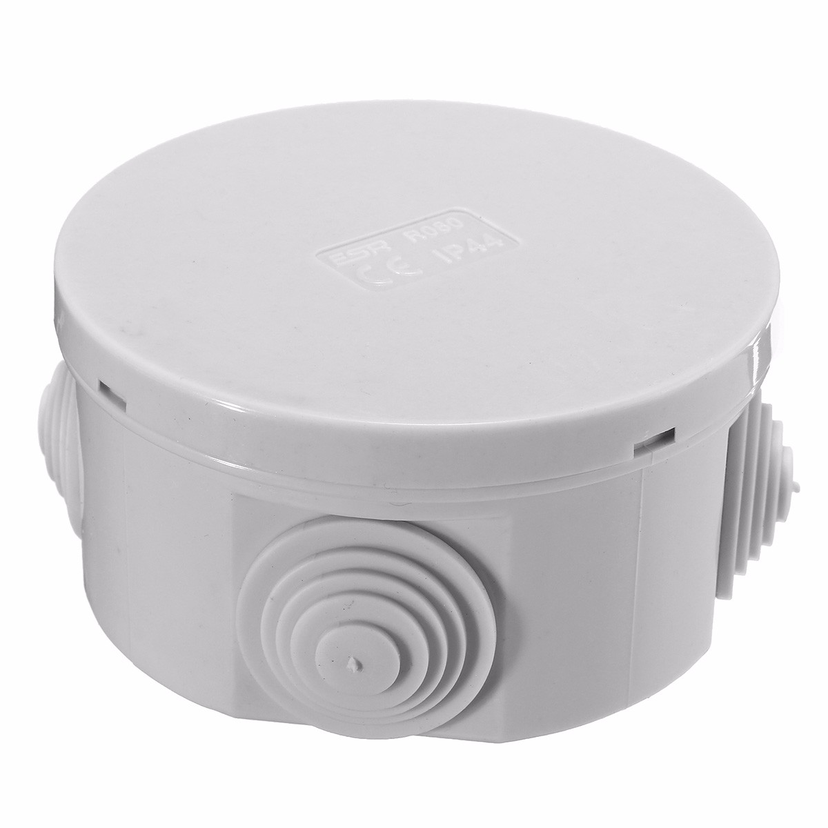 New Arrival Waterproof up to IP44 80 x 40mm  junction box CONTENITORE Raw materials With 4 x Rubber grommet ABS Material Grey