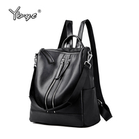 YBYT Brand 2017 New Women PU Leather Patchwork Oxford Package Casual Rucksack Simple Teenager School Bag