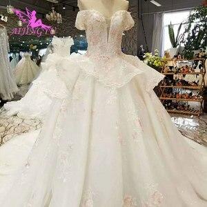 Image 3 - AIJINGYU Hochzeit Kleider Schweden Rustikalen Kleid Preise Auf Plus Größe Rabatt Kleider Plus Größe Hochzeit Kleid Mit Zug