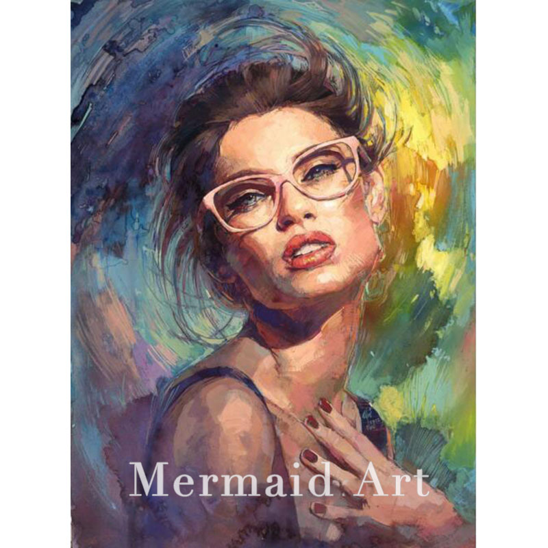 Hand Painted Oil Painting Michael And Inessa Garmash Lady -7204