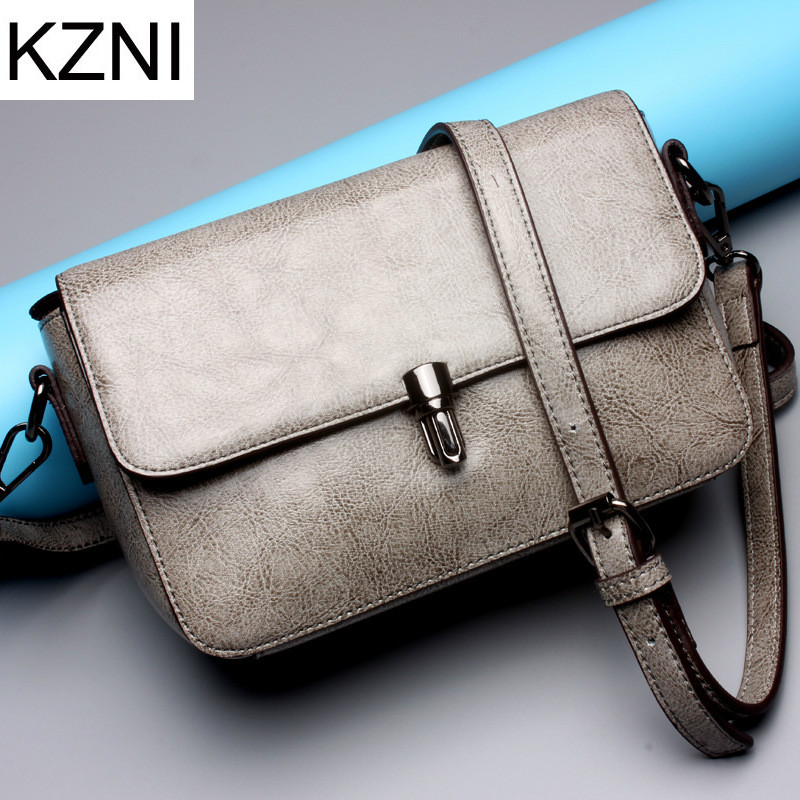KZNI Genuine Leather Purse Crossbody Shoulder Women Bag Clutch Female Handbags Sac a Main Femme De Marque  L121010 kzni genuine leather evening clutch bags designer handbags high quality purses and handbags sac a main femme de marque 1162 1168