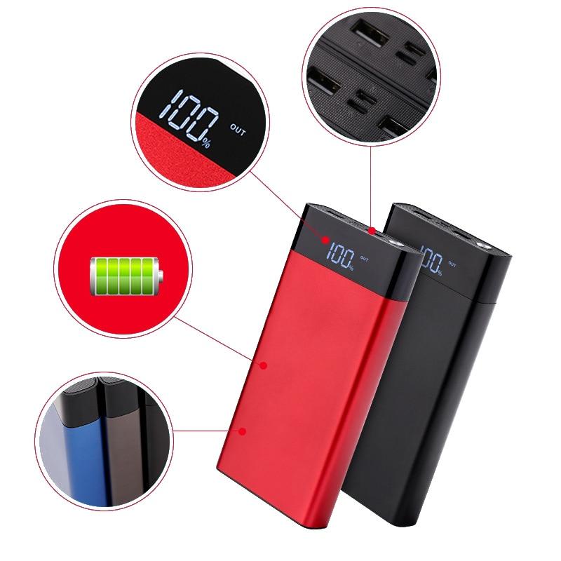 Power Bank 20000mAh Portable Charger External 18650 Battery Powerbank Dual USB Poverbank For Xiaomi iPhone Samsung Huawei phone Power Bank     - title=