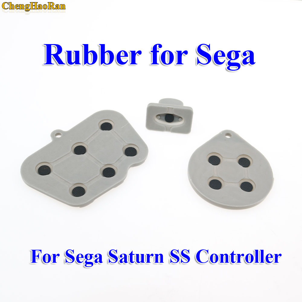 Image 2 - ChengHaoRan 2   10 sets  Repair parts for Sega Saturn SS Controller Conductive Rubber Pad Button Start Key Pads Button-in Replacement Parts & Accessories from Consumer Electronics