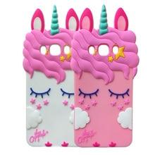 For Samsung Galaxy J510 J5 2016 3D Silicone Pretty Unicorn Cartoon Soft Rubber Silicon Phone Cover Case For Samsung J5 2016 goowiiz серый samsung galaxy j5 2016 j510