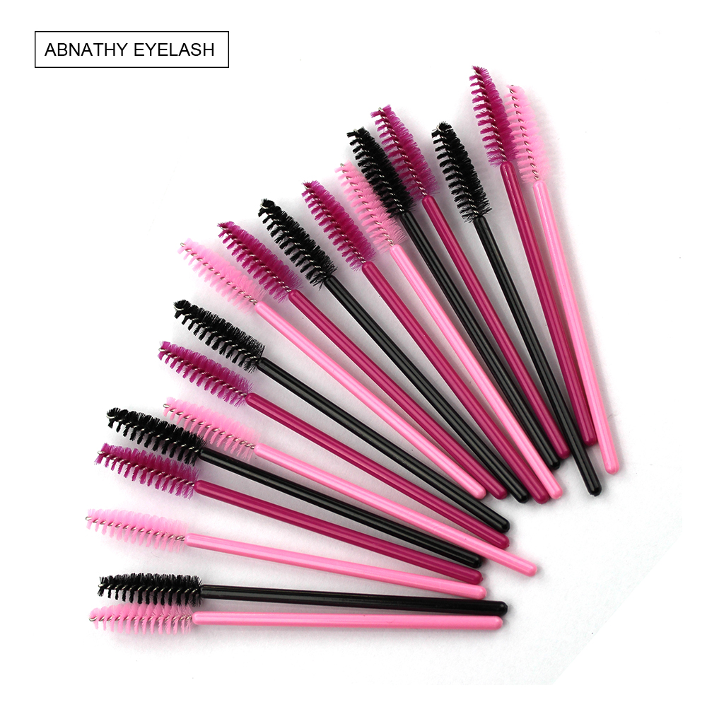 Abnathy 50pcs pack disposable eyelash brush mascara wands for Mascara with comb wand