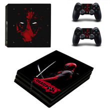 Deadpool PS4 Pro Skin Sticker For Dualshock 4 for Sony PlayStation 4 Console and Controllers PS4 Pro Skin Stickers Decal Vinyl